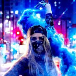 عکس پروفایل دخترانه دود آبی
