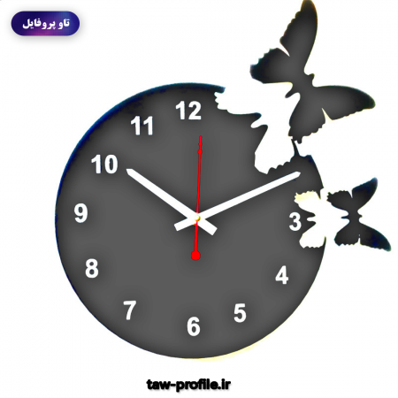 ساخت عکس پروفایل گرافیکی ساعت